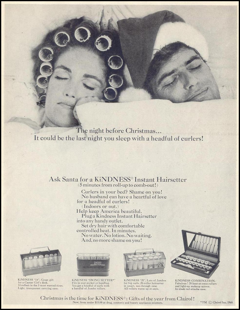 KINDNESS INSTANT HAIRSETTER SATURDAY EVENING POST 12/28/1968 p. 1