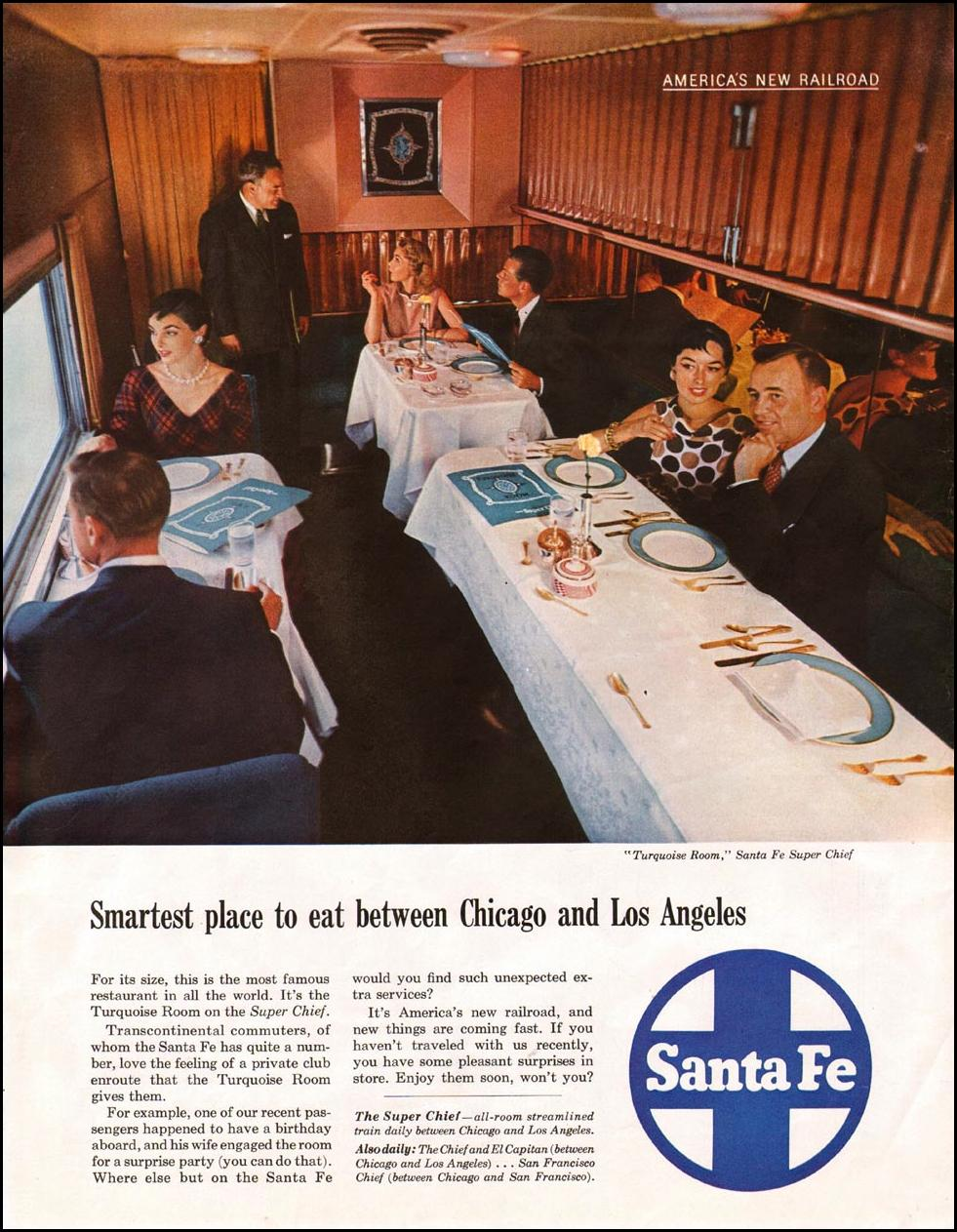 RAIL TRAVEL SATURDAY EVENING POST 03/26/1955 p. 118
