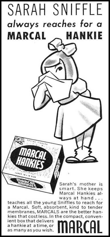 MARCAL HANKIES WOMAN'S DAY 02/01/1954 p. 177