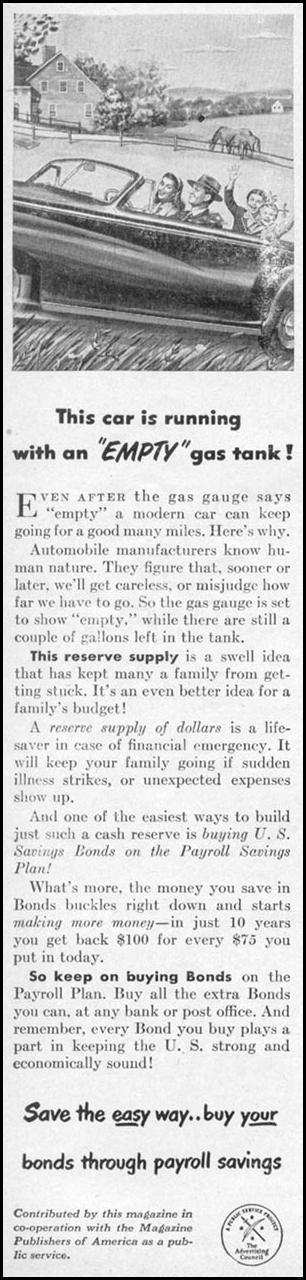 UNITED STATES SAVINGS BONDS WOMAN'S DAY 05/01/1947 p. 106