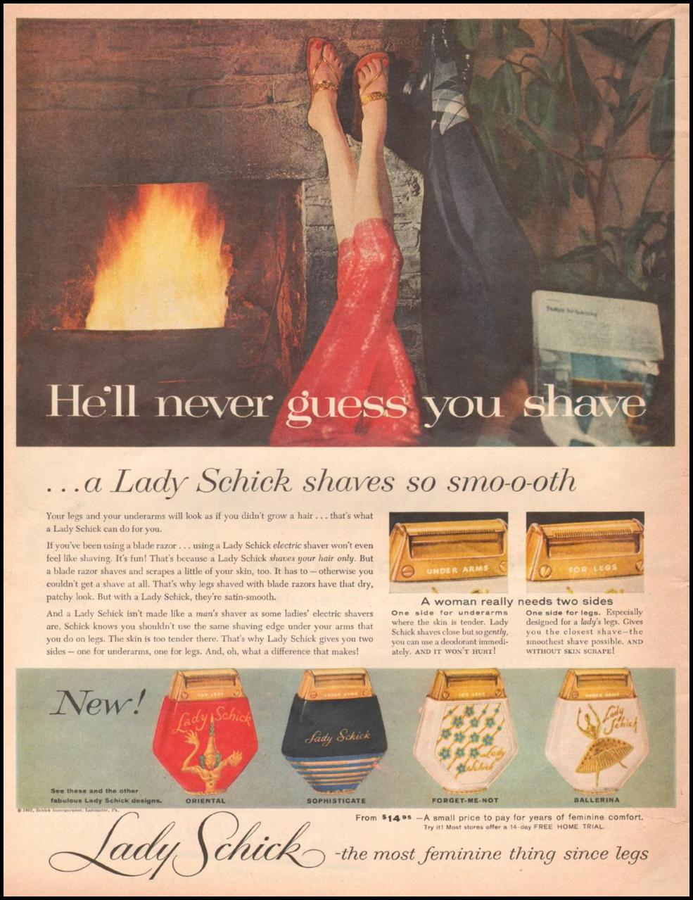 LADY SCHICK RAZORS LOOK 10/29/1957 p. 6