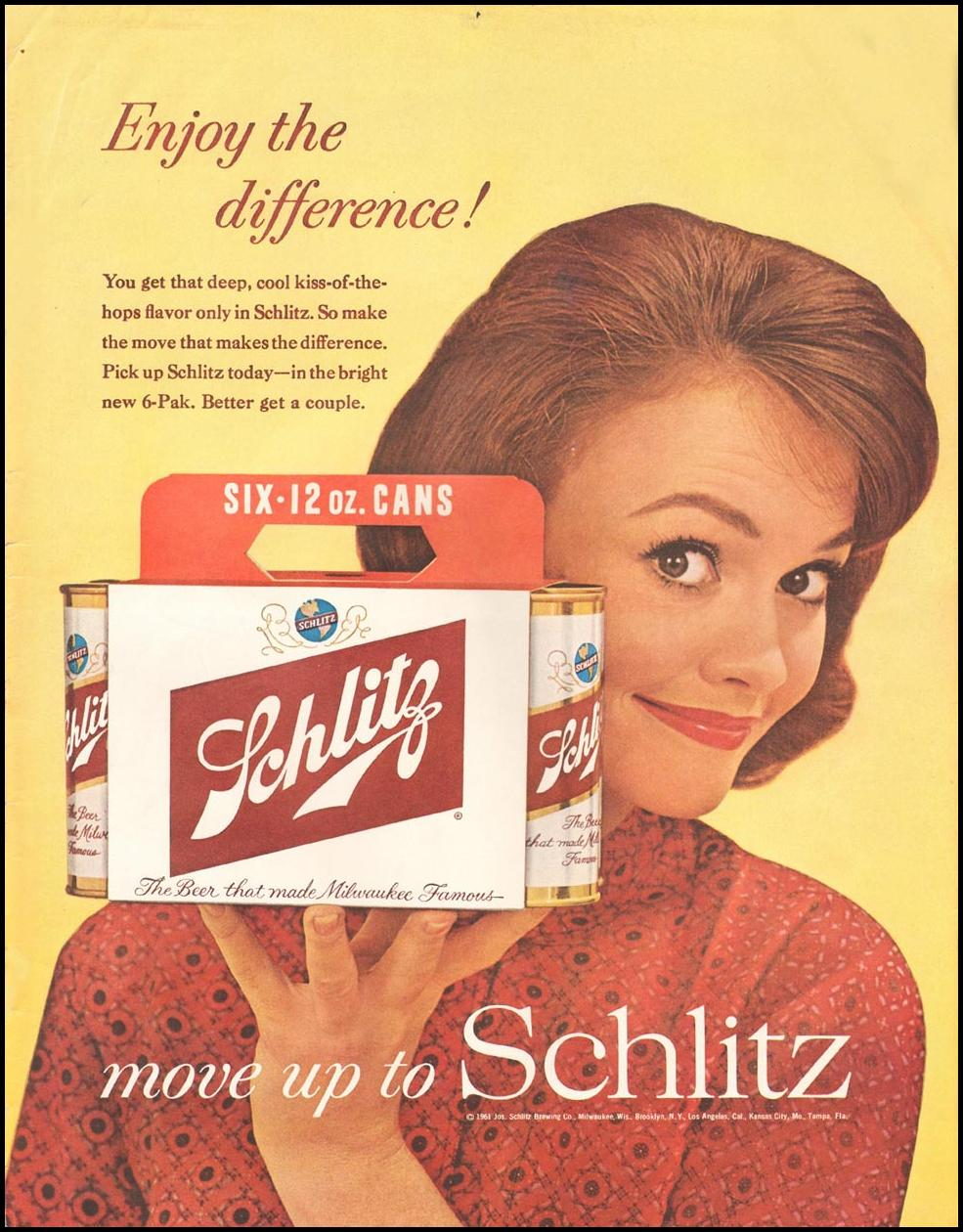SCHLITZ BEER LIFE 03/31/1961 INSIDE BACK