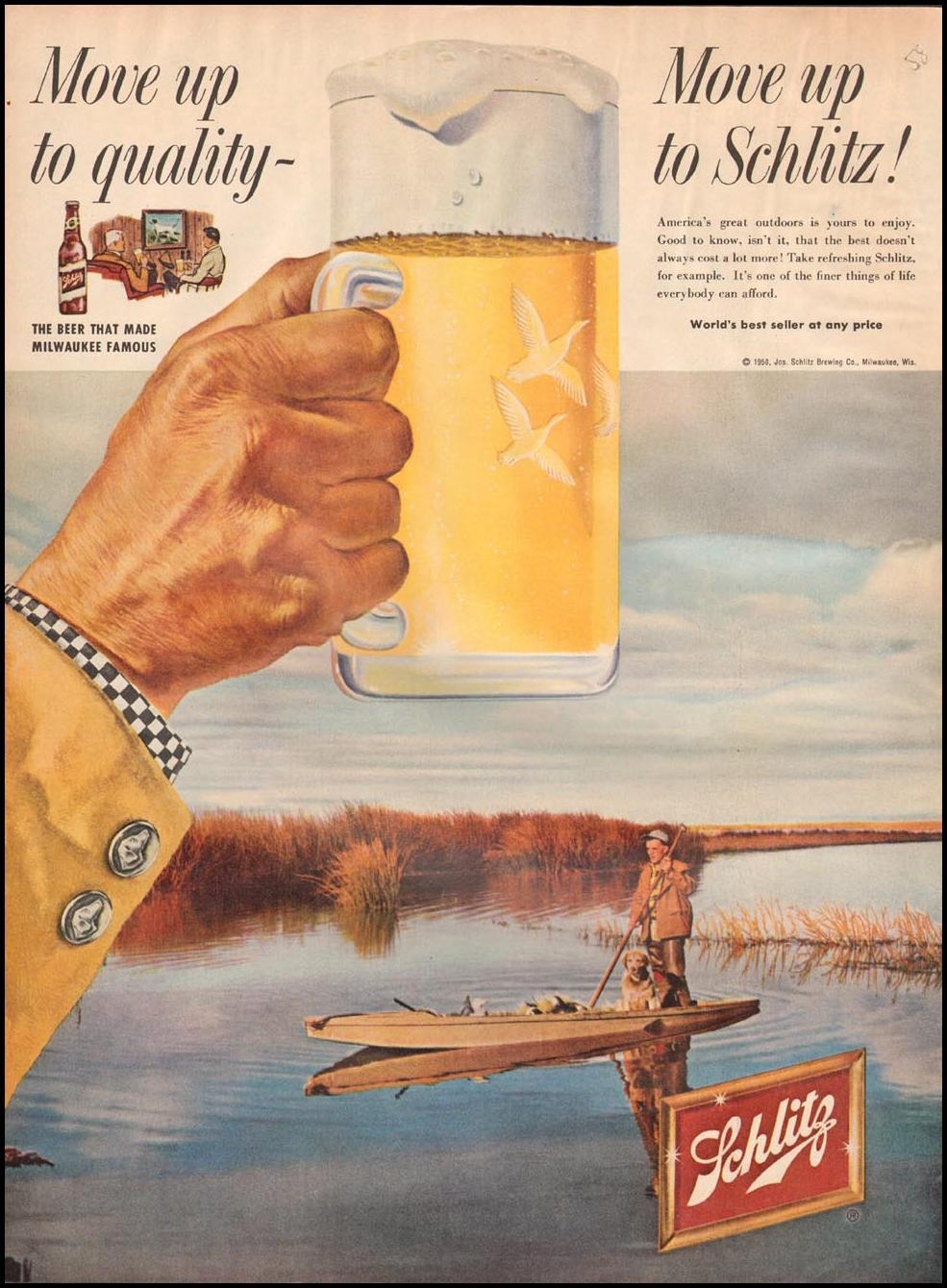 SCHLITZ BEER LIFE 11/24/1958