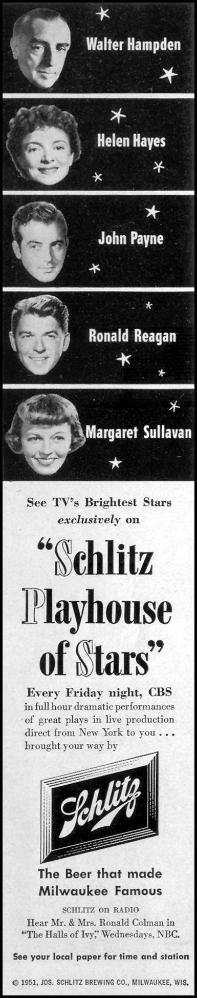 SCHLITZ BEER LIFE 12/24/1951 p. 54
