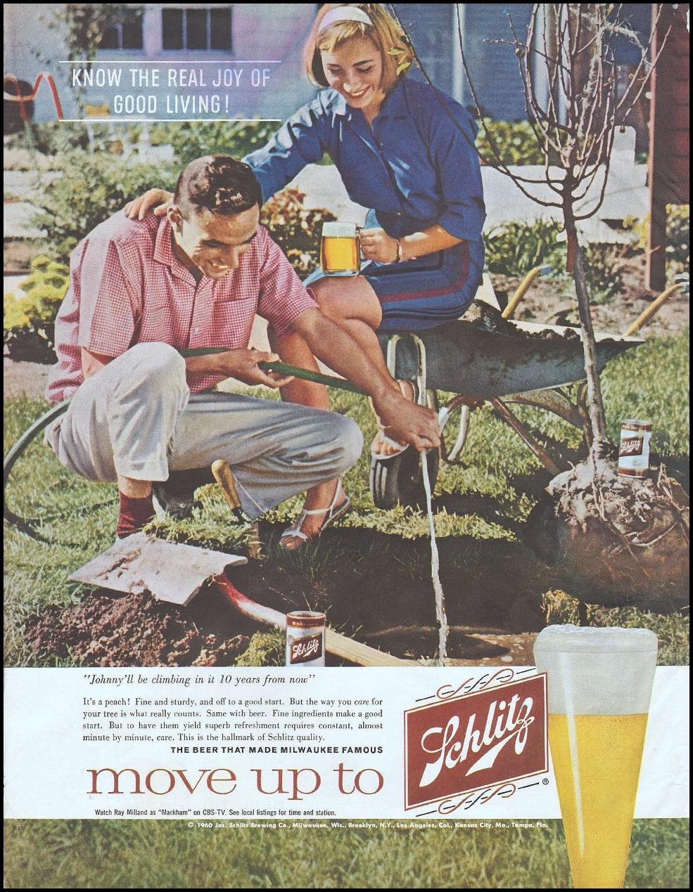SCHLITZ BEER SATURDAY EVENING POST 06/04/1960 p. 2