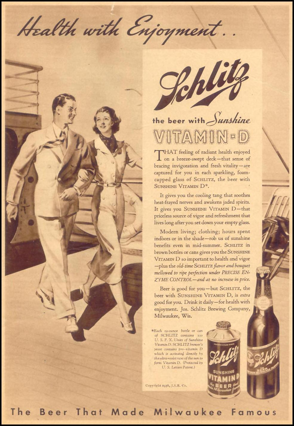 SCHLITZ BEER LIBERTY 08/08/1936 p. 7