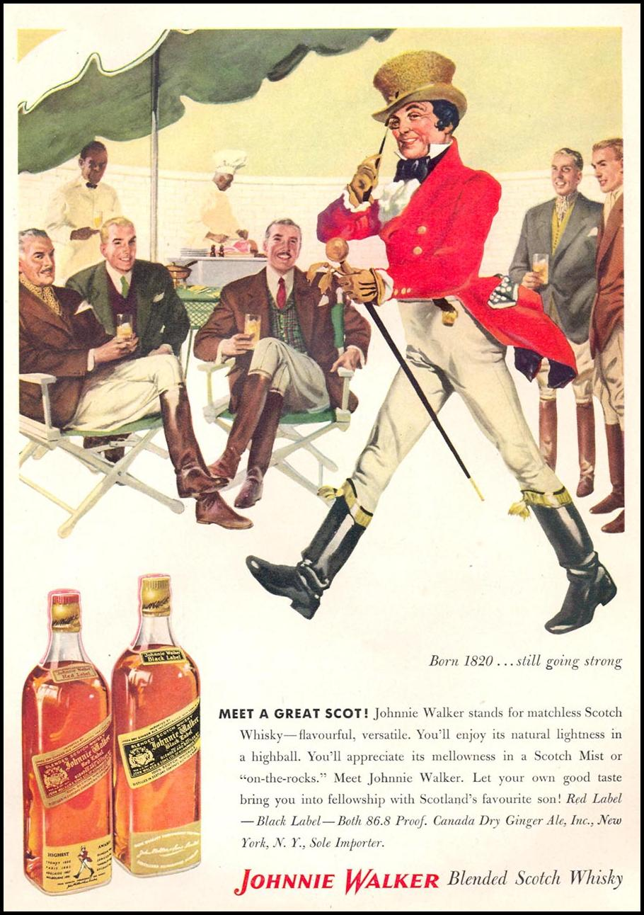 JOHNNIE WALKER SCOTCH WHISKEY TIME 09/17/1956 p. 69