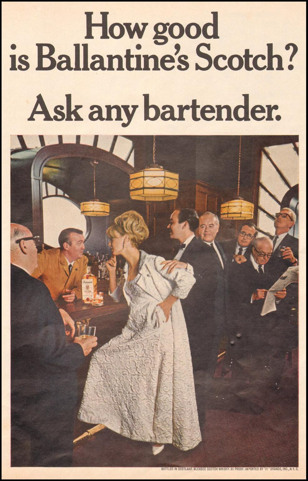 BALLANTINE'S SCOTCH WHISKEY LIFE 11/04/1966