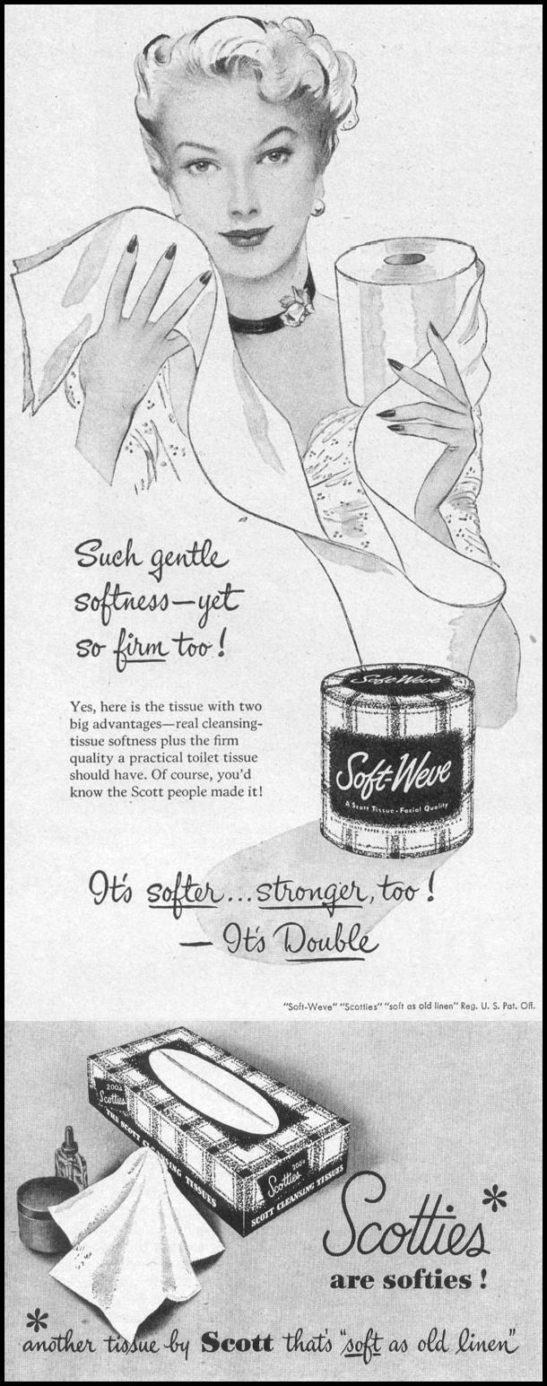 SOFT-WEVE BATHROOM TISSUE LIFE 04/17/1950 p. 108