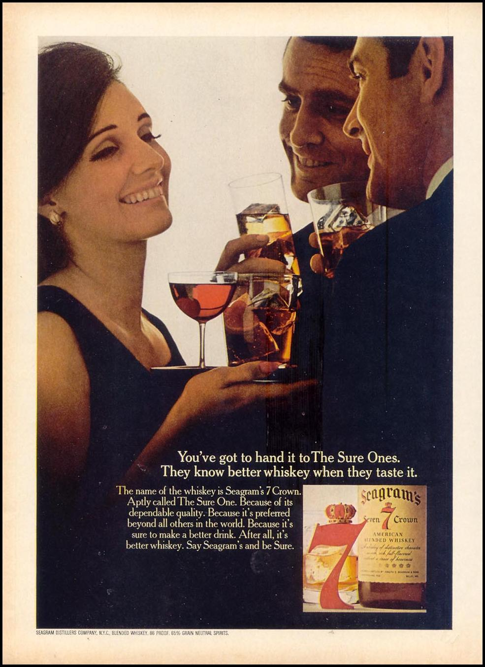 SEAGRAM'S SEVEN CROWN WHISKEY TIME 03/11/1966 p. 48