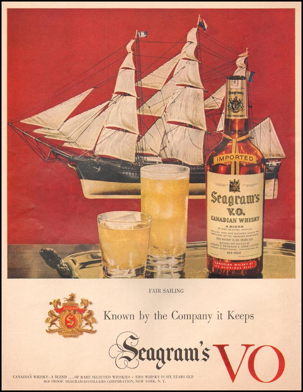 SEAGRAM'S VO CANADIAN WHISKEY LIFE 10/01/1951