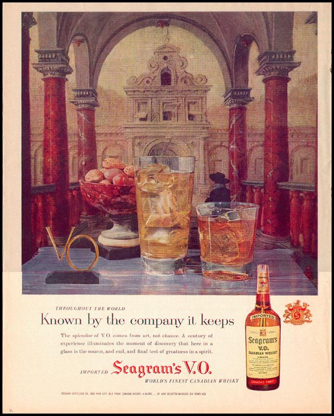 SEAGRAM`S V.O. CANADIAN WHISKEY LOOK 09/16/1958 p. 46