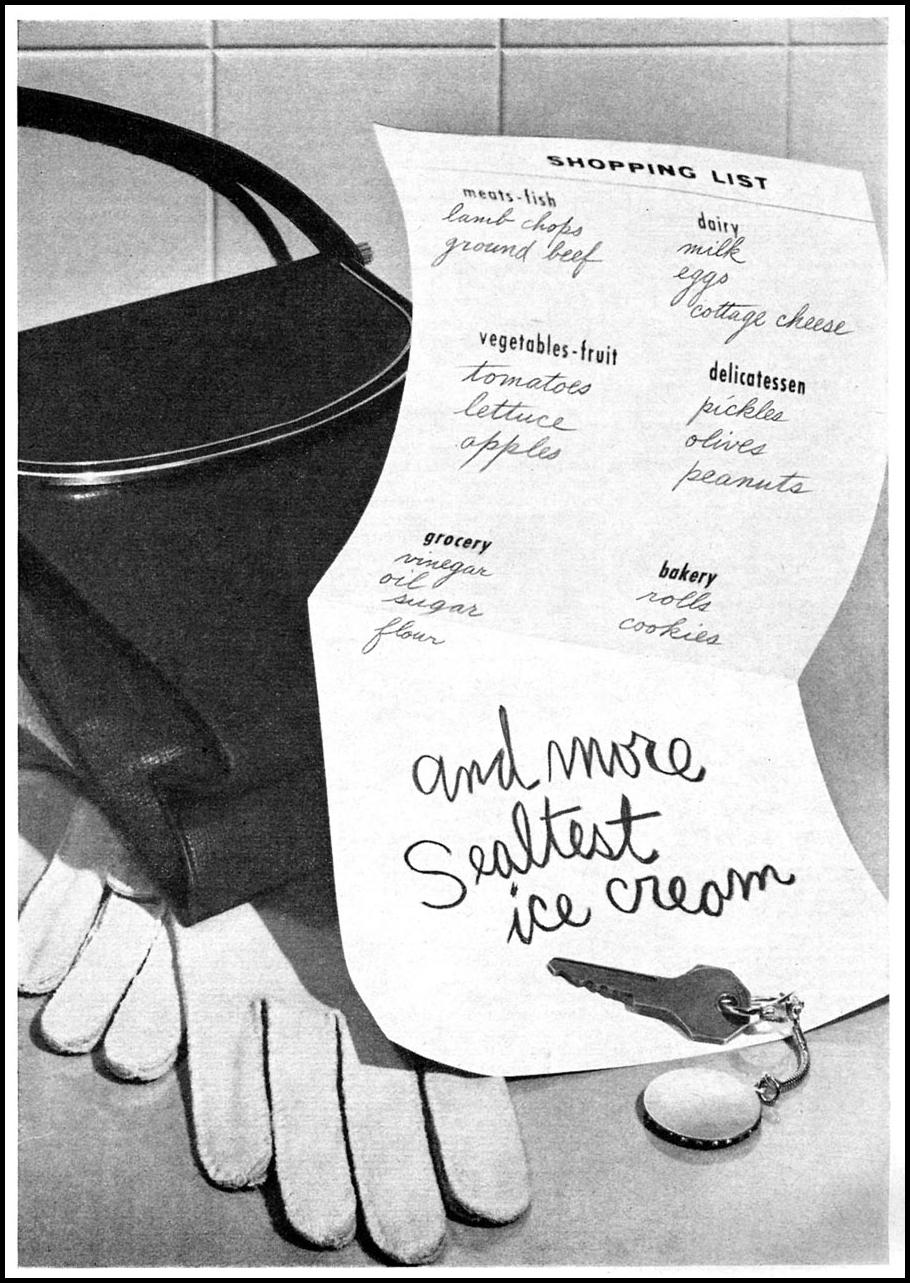 SEALTEST ICE CREAM WOMAN'S DAY 10/01/1956 p. 139