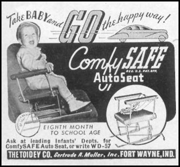 COMFY-SAFE AUTO SEAT WOMAN'S DAY 05/01/1947 p. 126