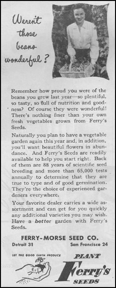 VEGETABLE SEEDS LIFE 03/12/1945 p. 108