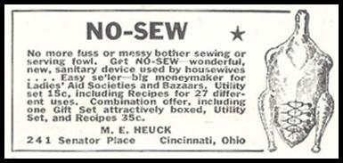 NO-SEW POULTRY UTILITY SET GOOD HOUSEKEEPING 11/01/1933 p. 211