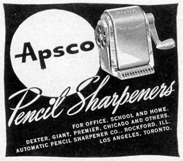 APSCO PENCIL SHARPENERS LIFE 11/15/1948 p. 130