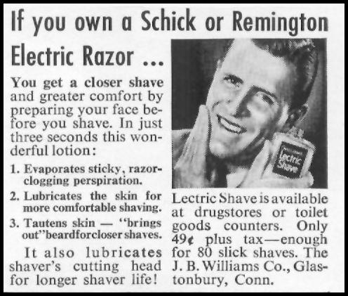 LECTRIC SHAVE PRE-SHAVE CONDITIONER LIFE 01/21/1952 p. 101