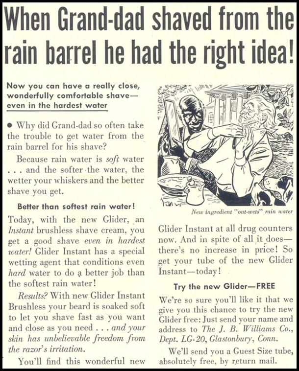 GLIDER INSTANT BRUSHLESS SHAVE CREAM LIFE 04/13/1953 p. 166