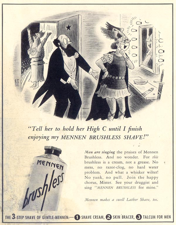 MENNEN BRUSHLESS SHAVING CREAM LIFE 06/23/1941 p. 84