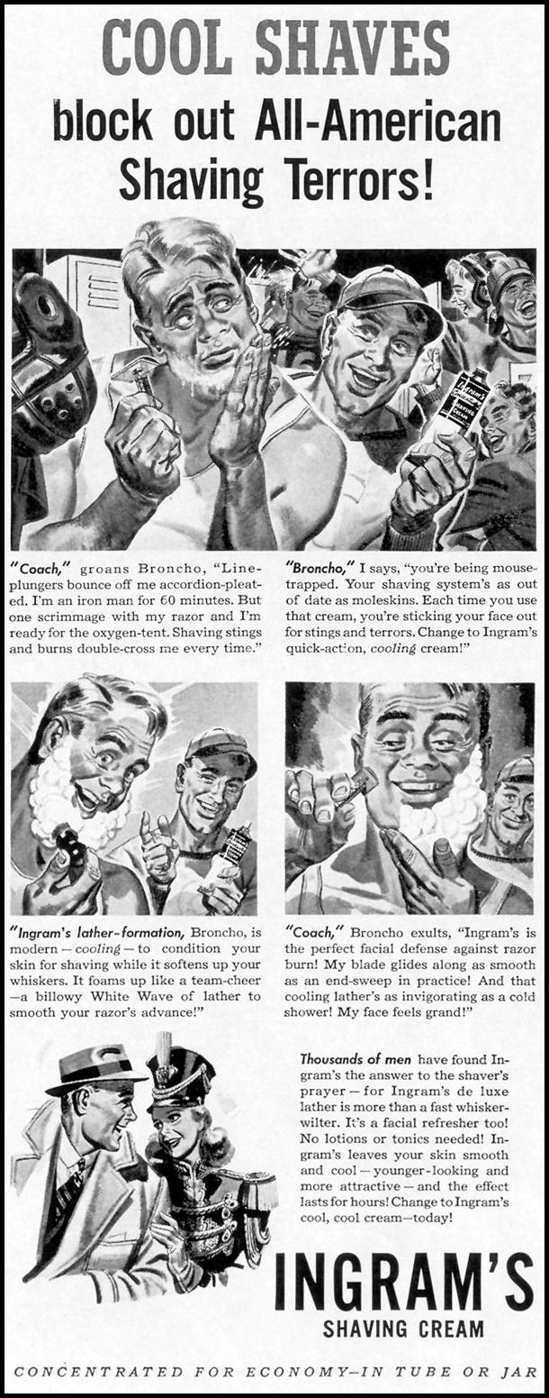 INGRAM'S SHAVING CREAM LIFE 10/13/1941 p. 4