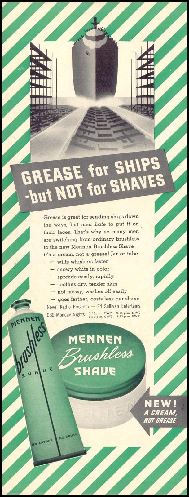MENNEN BRUSHLESS SHAVE LIFE 11/08/1943 p. 50
