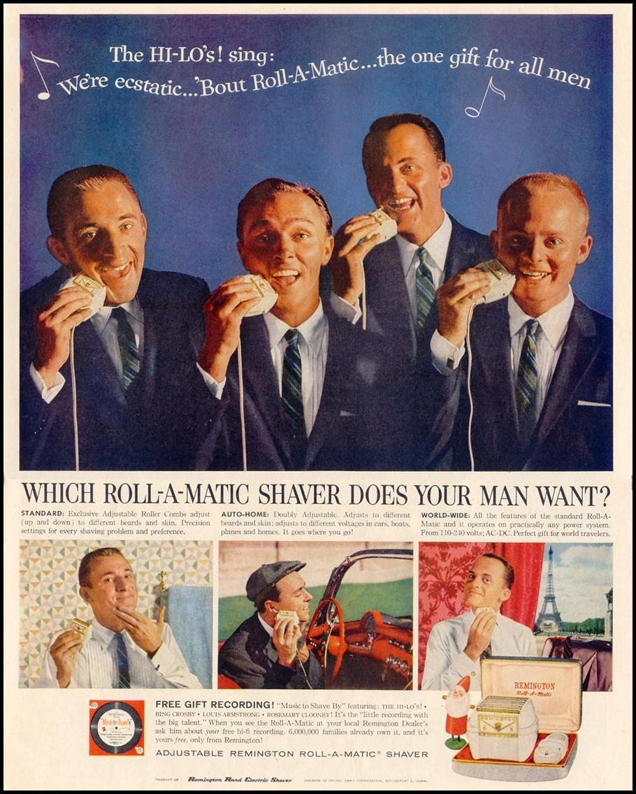 REMINGTON ROLL-A-MATIC ELECTRIC SHAVERS LIFE 12/14/1959 p. 97