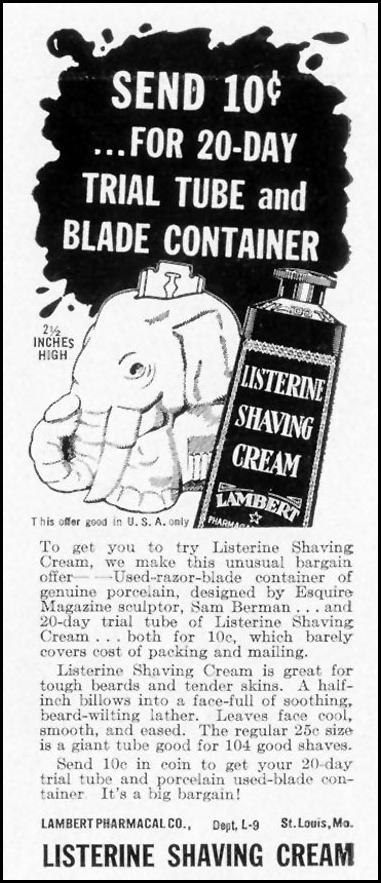 LISTERINE SHAVING CREAM LIFE 12/27/1937 p. 7