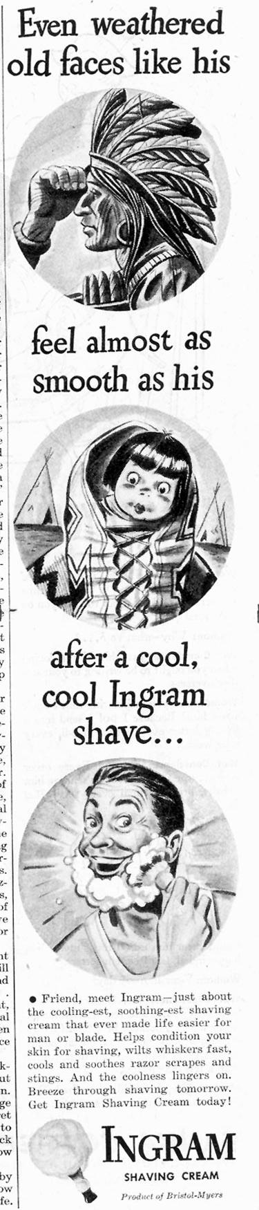 INGRAM SHAVING CREAM SATURDAY EVENING POST 05/19/1945 p. 41