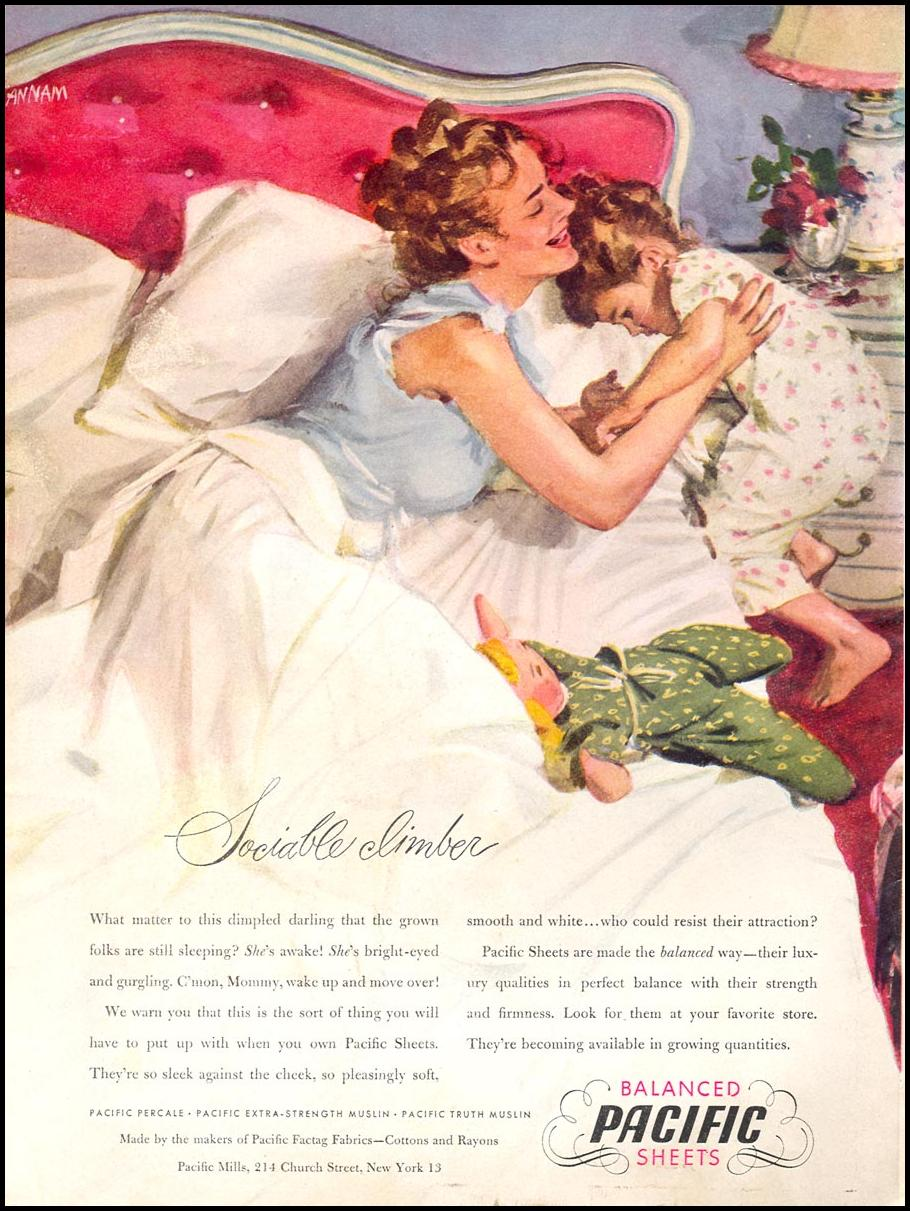 PACIFIC SHEETS WOMAN'S DAY 09/01/1946 BACK COVER