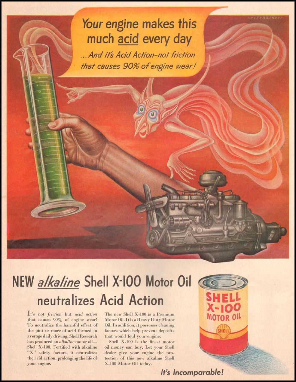 SHELL X-100 MOTOR OIL LIFE 04/30/1951 p. 102