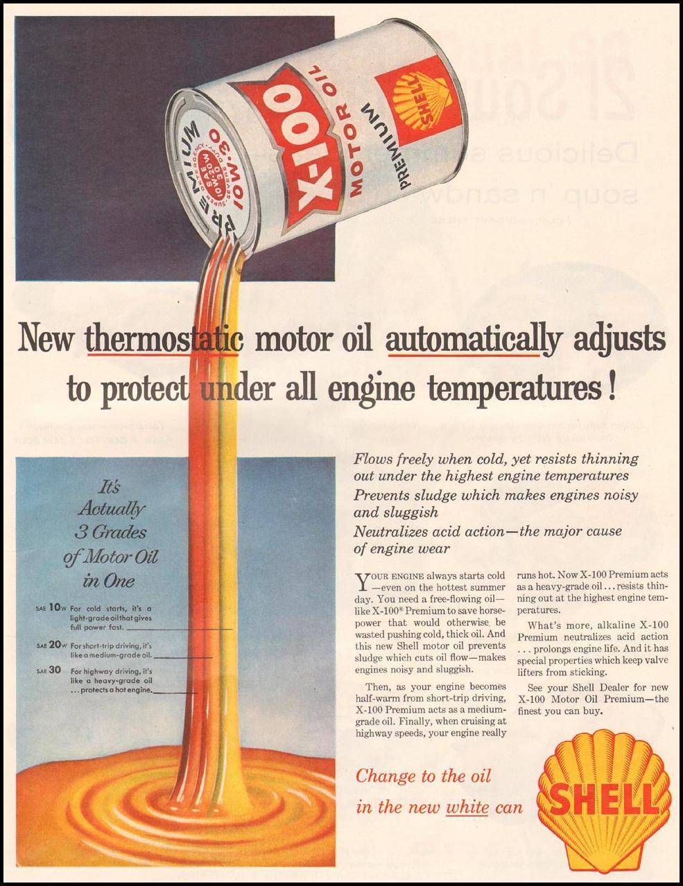 SHELL X-100 MOTOR OIL LIFE 07/01/1957 p. 37