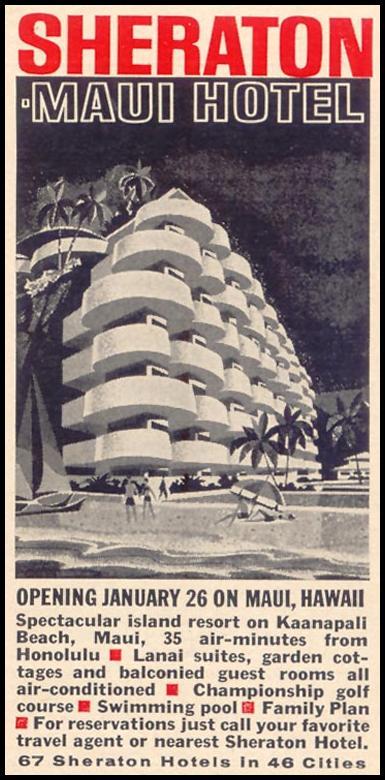 SHERATON MAUI HOTEL TIME 12/07/1962 p. 89