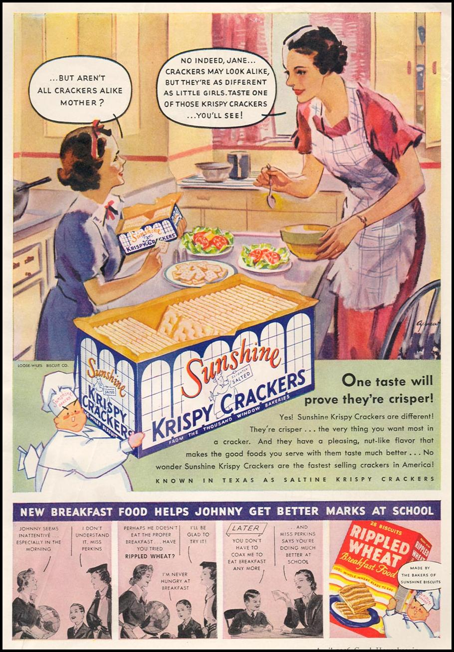 SUNSHINE KRISPY CRACKERS GOOD HOUSEKEEPING 04/01/1936