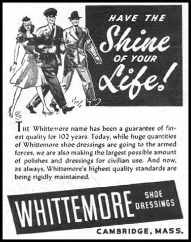 WHITTEMORE SHOES DRESSINGS LIFE 10/25/1943 p. 122