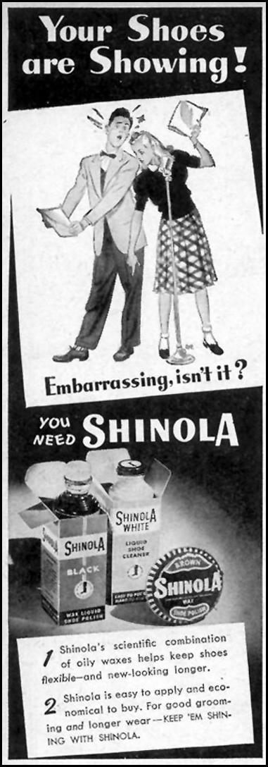 SHINOLA SHOE POLISH WOMAN'S DAY 03/01/1948 p. 112