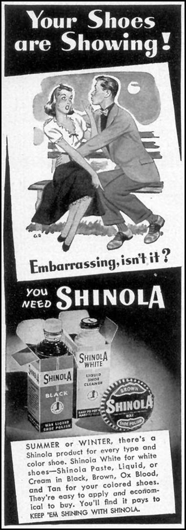 SHINOLA SHOE POLISH WOMAN'S DAY 08/01/1948 p. 86