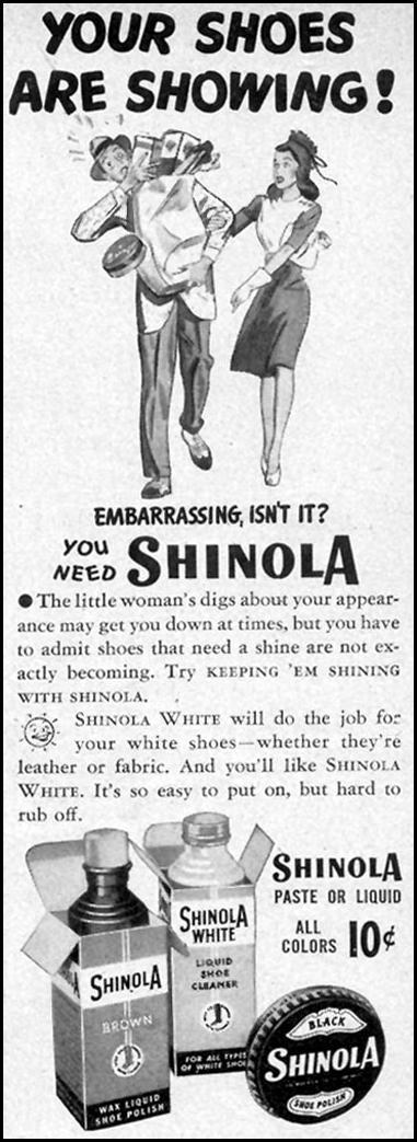 SHINOLA SHOE POLISH WOMAN'S DAY 09/01/1946 p. 86