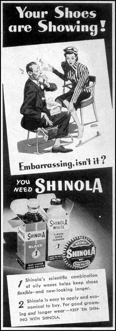 SHINOLA SHOE POLISH WOMAN'S DAY 09/01/1947 p. 127