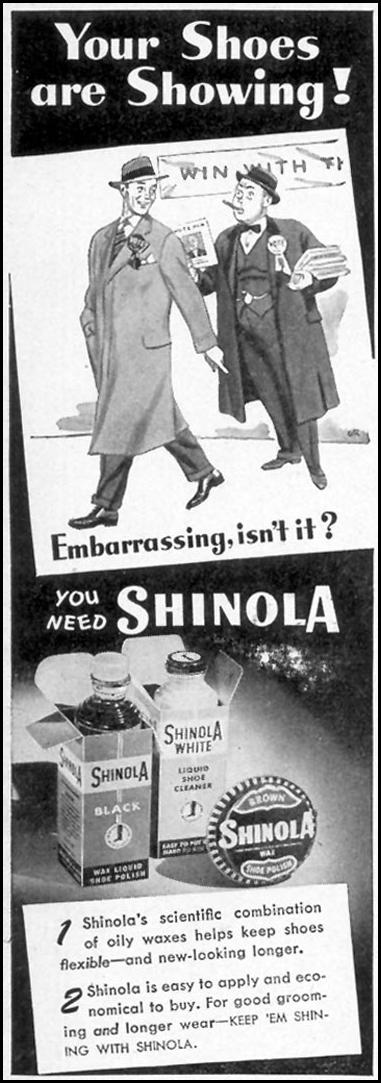SHINOLA SHOE POLISH WOMAN'S DAY 11/01/1948 p. 124