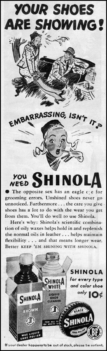 SHINOLA SHOE POLISH LIFE 03/12/1945 p. 105