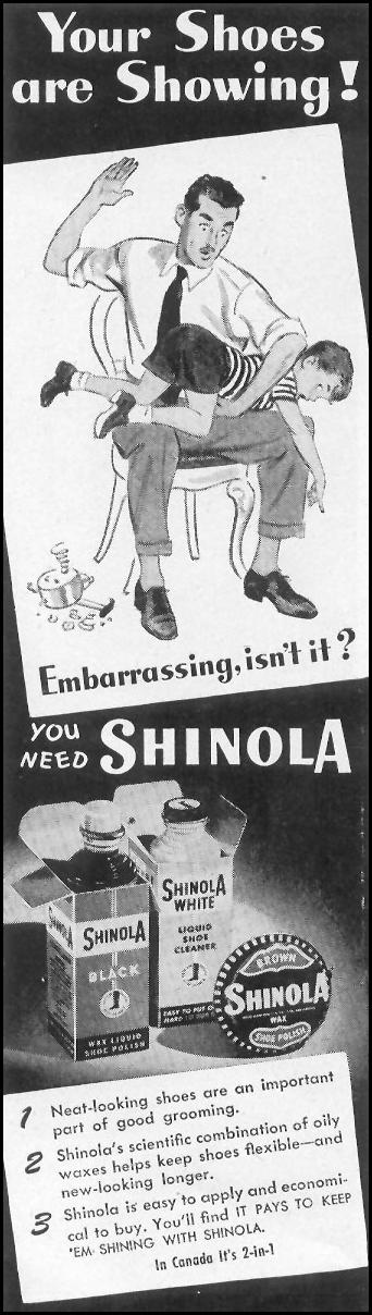 SHINOLA SHOE POLISH LIFE 10/11/1948 p. 98