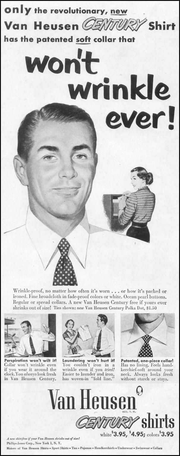 VAN HEUSEN CENTURY SHIRTS LIFE 01/21/1952 p. 70