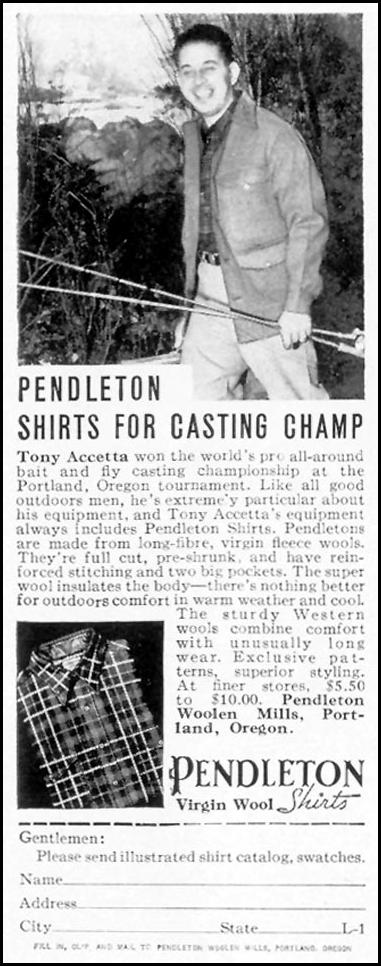 PENDLETON VIRGIN WOOL SHIRTS LIFE 09/06/1937 p. 78