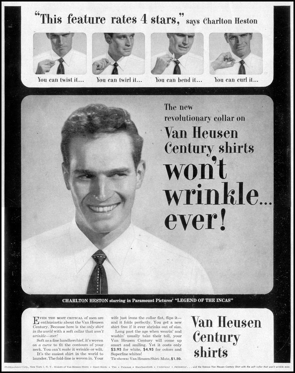 VAN HEUSEN CENTURY SHIRTS LIFE 09/07/1953 p. 175