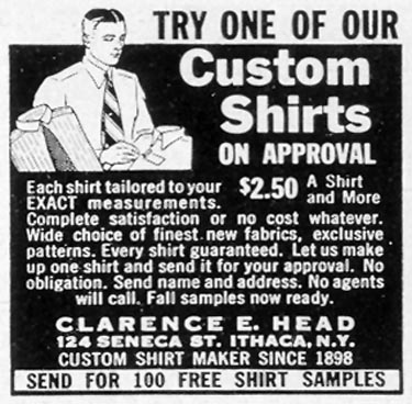 CUSTOM DRESS SHIRTS LIFE 09/27/1937 p. 110