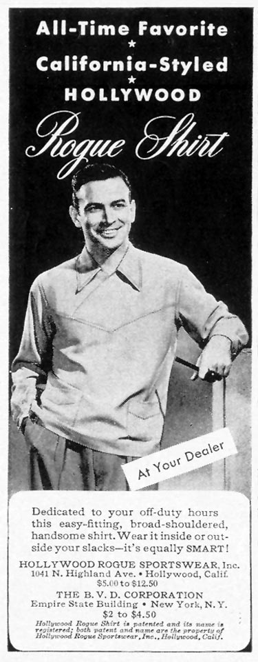 CALIFORNIA-STYLED HOLLYWOOD ROGUE SHIRT LIFE 11/08/1943 p. 106