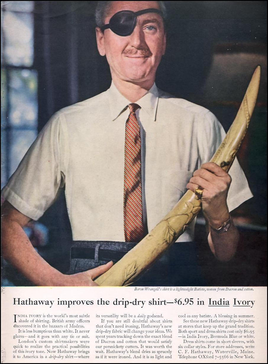 HATHAWAY DRESS SHIRTS SPORTS ILLUSTRATED 05/25/1959 p. 79