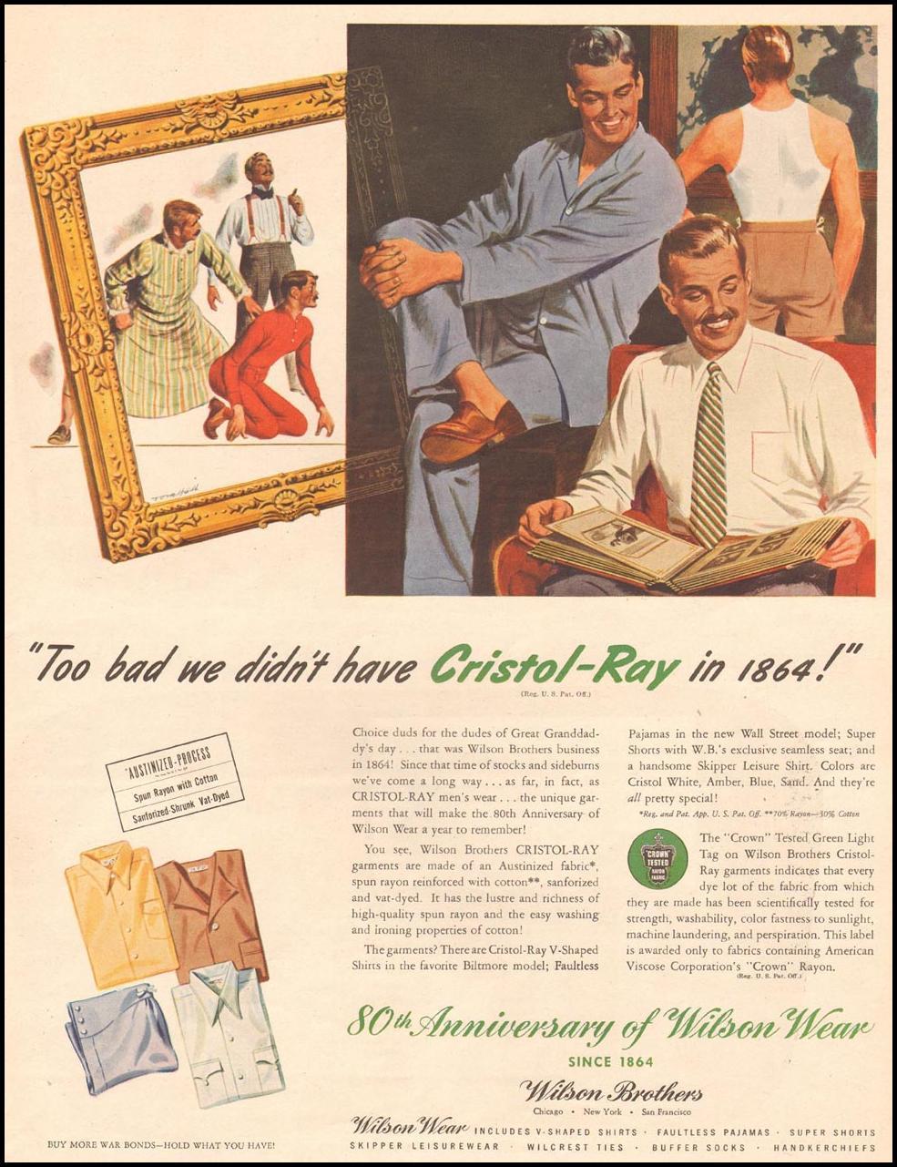 CRISTOL-RAY MENS SHIRTS LIFE 11/13/1944 p. 119