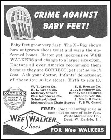 WEE WALKER SHOES WOMAN'S DAY 04/01/1943 p. 58